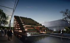 pavilion of dream terraces by H&P architects