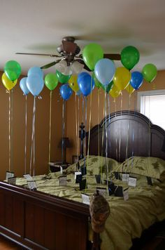 Hubbys 25th birthday - 25 reasons why I love you << awww if u were my roommate. Or lived closer. I would do this