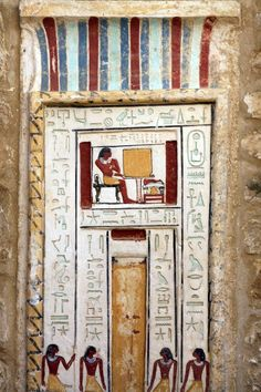 A false door from Ancient Egypt. The Ancient Egyptians believed false doors to be thresholds between the realms of the living and the dead. It was here that the spirits of the ancestors could come and...