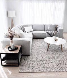 Living Room Grey, Living Room Modern, Home Living Room, Apartment Living, Living Room Designs, Living Room Decor Ideas Grey, Living Room Decorating Ideas, Modern Room Decor, Small Living Room Furniture