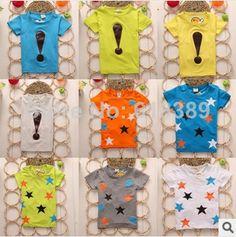 2014  summer Children t shirts kids New Fashion Short Sleeve t-shirt Kids tops Free Shipping  $25.87/lot