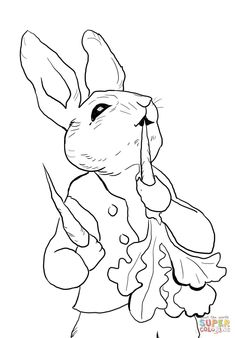Peter Rabbit Coloring Pages . 30 Peter Rabbit Coloring Pages . 12 Cute Easter Bunny Coloring Pages Kanta Easter Bunny Colouring, Bunny Coloring Pages, Coloring For Kids, Printable Coloring Pages, Coloring Pages For Kids, Coloring Books, Print Coloring Pages, Coloring Pages Nature, Free Rabbits