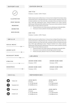 25 Clean Minimal Resume Templates Design | Design | Download Now | Top Creative Resume#resume #cv #resumeTemplate #cvTemplate #coverLetter #template #logo