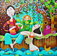 CRUCITA GUTIÉRREZ SEGOVIA: MIS AMIGOS PINTORES - LEANDRO LAMAS Puzzle Art, Arte Popular, Naive Art, Realism Art, Couple Art, Diy Wall Art, Magazine Art, Fine Art Gallery, Figurative Art