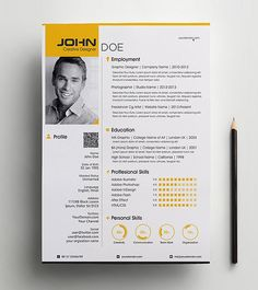 Professional Resume Set Present yourself in a professional way with Professional Resume Set. A Sharp and Professional Resume template with a modern and One Page Resume Template, Modern Resume Template, Cv Template, Resume Templates, Resume Examples, Resume Ideas, You Better Work, Professional Resume, Creative Resume