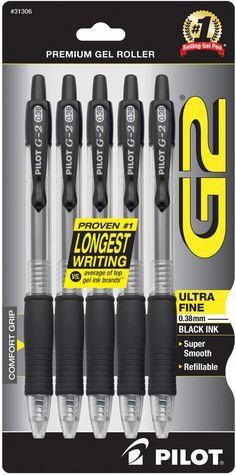 Pilot Ultra fine gel roller pen (multiple colours)  Black!!!! Lots of these