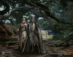 Mirkwood - Greenwood Elfs by EA Howell : ImaginaryMiddleEarth Mirkwood Elves, Lotr Elves, Elf Art, Different Races, Religion And Politics, Image Painting, Fantasy Races, Elvish, Fantasy Artwork