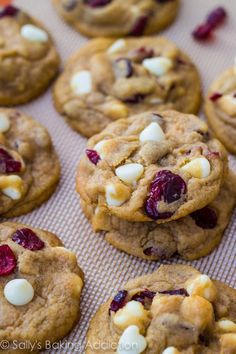 White Chocolate Chip Cranberry Cookies By Sallys Baking Addiction.