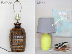 How To: Make an Old Thrift Store Lamp Look New Again