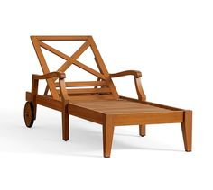 Hampstead Single Chaise with wheels, Honey