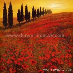 POPPY FIELD PAINTING FROM SALLY'S NIECE LYNN.  Get pic of her matting & frame  Steve Thoms 'Poppies'