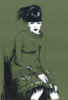 Alberta Feretti. by Diana Kuksa (Nesypova), via Behance