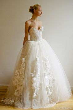 francesca miranda spring 2013 bridal vera ball gown wedding dress- love everything but the flower things on the bottom :p