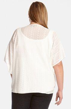 Karen Kane Plus Size Fashion Coronado Beaded Tie Front Top available from Nordstrom #Plus_Size_Lace #Coronado #White #Lace #Inset #Beaded #Tie_Front #Top #Fashion #Plus #Plus_Size #Plus_Size_Fashion #Nordstrom