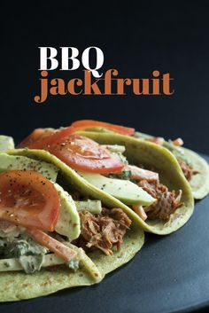"""A plant food straight from the earth, Jackfruit resembles pulled pork once you shred and prepare it. One of the most delicious and healthy """"meat substitutes"""" because there is no long list of fake ingredients, this recipe is so savory and satisfying, you'll never miss meat again."""