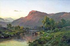 Victorian British Painting: Landscapes Edward Theodore Compton