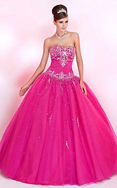 Ball Gown Sweetheart andar de comprimento vestido de baile de tule com bordados