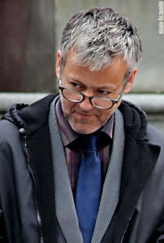 "nixxie-fic: ""Glasses!Porn My Edit - Rupert Graves looking scrummy on the set of 'Original Sin' in Vancouver yesterday - (x) """