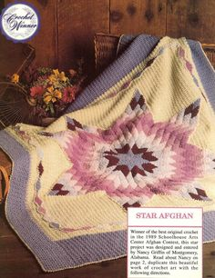 PRIZE WINNING STAR QUILT AFGHAN CROCHET PATTERN
