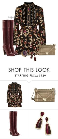 """""""Untitled #773"""" by mandyjeanb87 ❤ liked on Polyvore featuring Dodo Bar Or, Christian Dior, Marc Jacobs, Kendra Scott, Clutch, Boots, dress, ring and earrings"""
