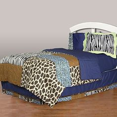One Grace Place Jazzie Jungle Boy Twin Bedding Set 6 Piece ** Read more at the image link.