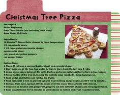 Christmas Tree Pizza. Fun for the family!