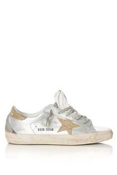 Golden Goose Deluxe Brand | Silver Superstar Metallic Leather Low-Top Sneakers | Lyst