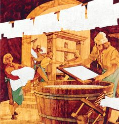 #Paper #making at #Hahnemuehle back in the 16th century.