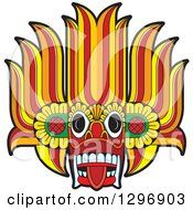 Clipart Of A Devil Dance Mask Royalty Free Vector Illustration by Lal Perera