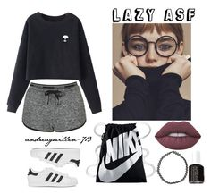 """What I wear like everyday"" by andreaguillen-713 ❤ liked on Polyvore featuring Topshop, Chicnova Fashion, adidas Originals, NIKE, Lime Crime, Boohoo and Essie"