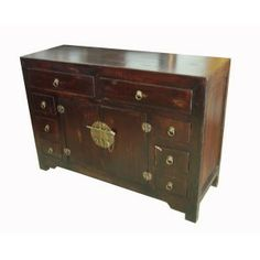 buffet chinois pagode rouge meubles chinois pinterest meuble chinois. Black Bedroom Furniture Sets. Home Design Ideas