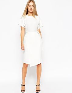 ASOS Plain D-Ring Dress with Asymmetric Skirt
