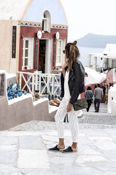 White & Striped pants - JUNE Sixty-Five - Blog Mode