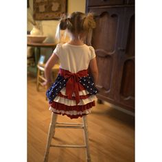 #DIY Red, white, and blue Bustle #Dress from @heartbreakkids