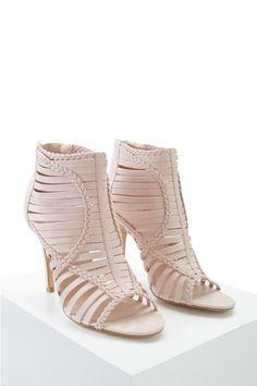 Strappy Braided Heels