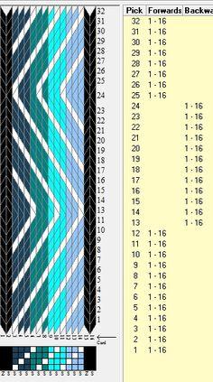 """""""Marítimo"""" 16 tarjetas, 6 colores, secuencia 12F-12B // sed_937 diseñado en GTT༺❁"""