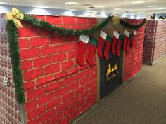 christmas cubicle decorating | christmas cubicle decorations 3