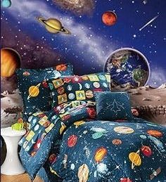 boys space themed bedrooms | Home Design Tips: Sci-Fi Space Bedroom Theme | Interior Decorating ...