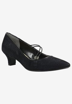 Idenah Pump by J. Renee in black glitter Platinum Credit Card, Comfortable Dress Shoes, Fast Shop, Woman Within, Formal Looks, Beauty Full, Black Glitter, Plus Size Outfits, Oxford Shoes