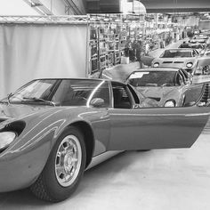 Lamborghini Muira Assembly line. Maserati, Ferrari, Lamborghini Miura, Lamborghini Factory, Royce Car, Porsche, Big Ride, Best Muscle Cars, Automotive Photography