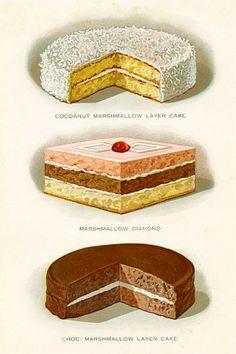 Marshmallow Pastries 1920s