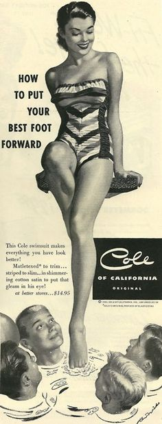 Lingerie Cole Of California 1950 Vintage Ephemera, Vintage Ads, Vintage Posters, Vintage Vibes, Vintage Paper, Vintage Images, Vintage Designs, Vintage Style, Vintage Bathing Suits