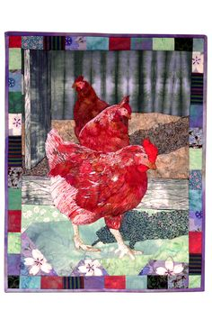 """"""" Come to the fun side"""" art quilt by Linden Lancaster"""