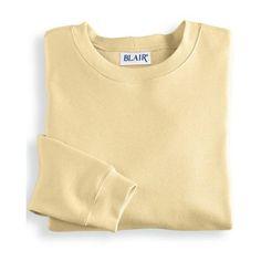 Blair   Better-Than-Basic Sweatshirt (885 RUB) ❤ liked on Polyvore featuring tops, hoodies, sweatshirts, sweaters, sweatshirt, shirts, yellow, beige shirt, crewneck sweatshirt and crew shirt