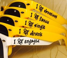 Bride to Bee Customized Sunglasses for