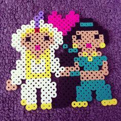 Aladdin and Jasmine perler beads by laila_luvs_jb