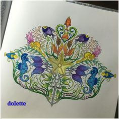 into the #lostocean #lostoceancoloringbook #adultcoloringbook #colleencolorpencils #derwentcoloursoft