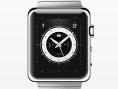 So I decided to design a watch face for the apple watch. Be sure to check out the 2x real pixels. :)