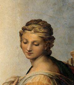 rubenista:  Detail of Sistine Madonna by Raphael (1513)