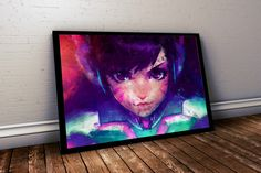 Overwatch Poster. Overwatch D.Va Painting Print. Mounted Canvas available on request details in listing by LilRedDotDesigns on Etsy https://www.etsy.com/listing/384888236/overwatch-poster-overwatch-dva-painting
